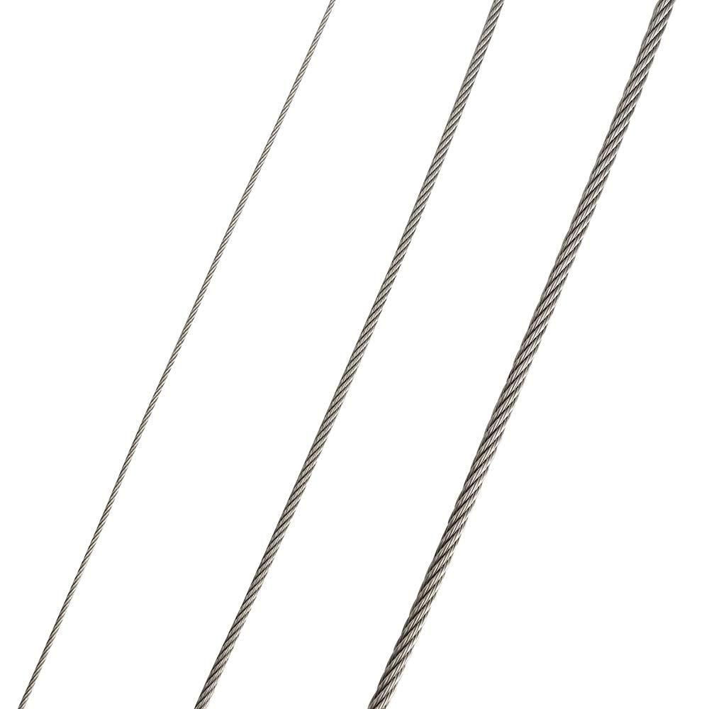 Speaker Safety Stainless Steel Cable,Safety Wire Rope for Ceiling Speaker Mounted Ceiling or on The Wall,Add Security,for Hanging Light,Lock Camera,DIY Speaker in Hall,Car,Bar,Exibition,2Pack