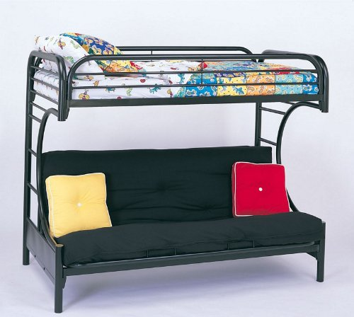 Coaster Twin/Futon Bunk Bed, High Gloss Black