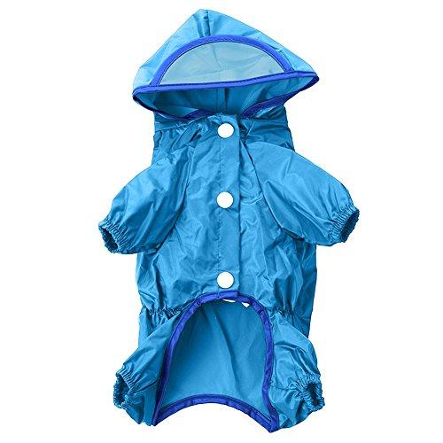Pro Modisch und wasserdicht Pet Hunde Regenmantel mit Kapuze Poncho Regenjacke wasserdicht regen Jacken