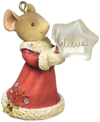 Enesco HRTCH Mouse Believe Hanging Ornament, Multicolor (Mouse Ornaments)