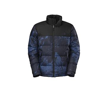 33599db9e10b The North Face Nuptse Jacket Mens Cosmic Blue Brush Stroke Print TNF Black  XXL  Amazon.ca  Sports   Outdoors