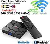 SHENGMO 2018 M96X MINI Android 7.1 TV BOX S905W Quad core 2GB Ram 16G Rom 5G Dual WIFI Bluetooth 4K H.265 HDMI WIFI KODI 18 Set-Top Box