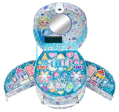 Disney Frozen / Die Eiskönigin / Geschenk-Set: Beleuchteter Kosmetikkoffer mit Spiegel + Make-up (Schminke) - für Kinder