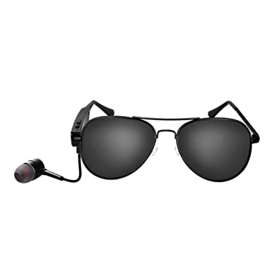 Amazon.com: TOPSHION Bluetooth Metal frame Sunglasses Glasses ...
