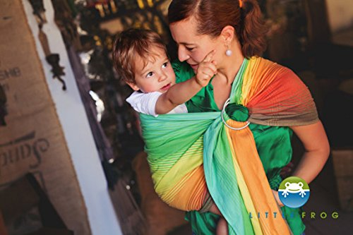 Ring Sling Baby Carrier Little Frog Wrap Conversion Sunny Ammolite - 2m