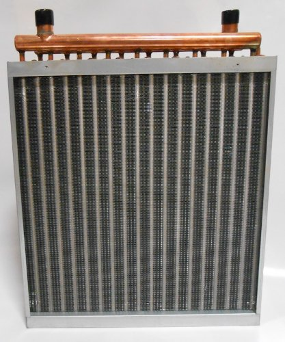 20x20 Water to Air Heat Exchanger Hot Water Coil Outdoor Wood ()