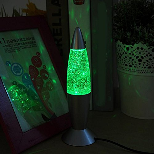 Cikuso 3D glitter Discoloration Lava Lamp Classic Lava Lamp Peaceful Relaxation Lamp USB interface computer
