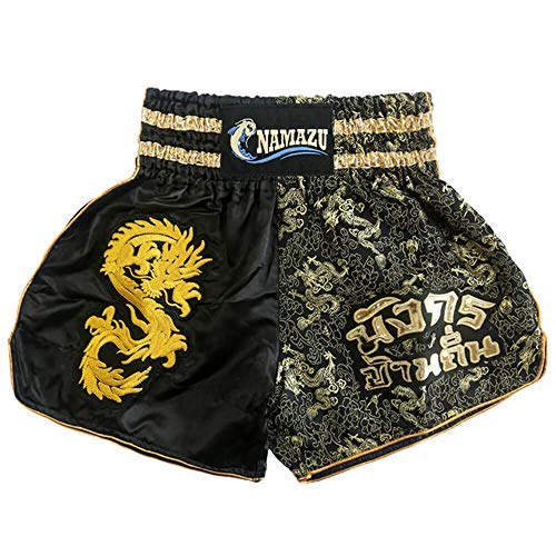 NAMAZU Muay Thai Shorts for Men and Women, High Grade MMA Gym Boxing Kickboxing Shorts.