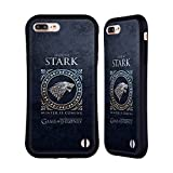 Official HBO Game Of Thrones Stark Metallic Sigils Hybrid Case for Apple iPhone 7 Plus / 8 Plus