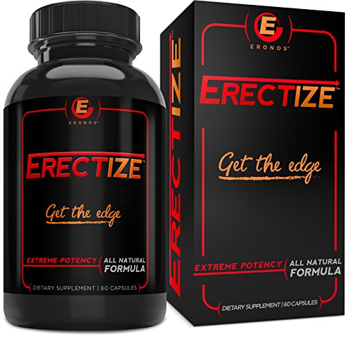 Erectize Extreme Testosterone Booster, Inrcrease Male Health Energy, Stamina, Size, Staying Power, 60 capsules