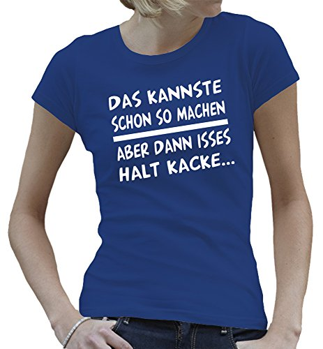 Touchlines - Camiseta - Manga Corta - para mujer azul cobalto
