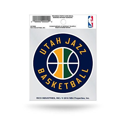 Rico Industries NBA Utah Jazz Small Static Cling Decal