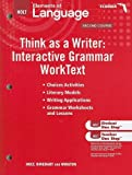 Florida Think as a Writer Interactive Grammar Worktext, RINEHART AND WINSTON HOLT, 003099568X