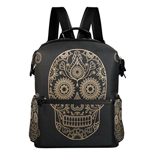 Laptop Backpack Lightweight Waterproof Travel Backpack Double Zipper Design with Anatomy Boutique Skull School Bag Laptop Bookbag Daypack for Women - Fashion Boutique Hut