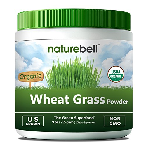 U.S Grown Organic Wheat Grass Powder, 9 Ounce, 85 Servings, Rich in Natural Fiber, Chlorophyll, Minerals, Proteins and all Essential Amino Acids. Non-Irradiated, Non-GMO and Vegan Friendly.