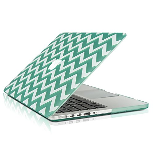 DCASE Chevron Series Green Ultra Slim Light Weight Rubberized Hard Case Cover for Apple MacBook Pro 13.3