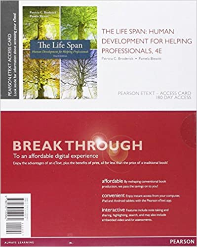 Amazon the life span human development for helping amazon the life span human development for helping professionals enhanced pearson etext access card 4th edition 9780133550962 patricia c fandeluxe Image collections