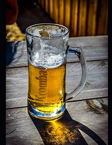 Notebook: Beer refreshment thirst quencher beers alcohol bar bartending rum whiskey glass hops