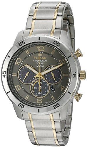 Pulsar Men's 'Chronograph Solar' Quartz Stainless Steel Dress Watch (Model: PX5057)