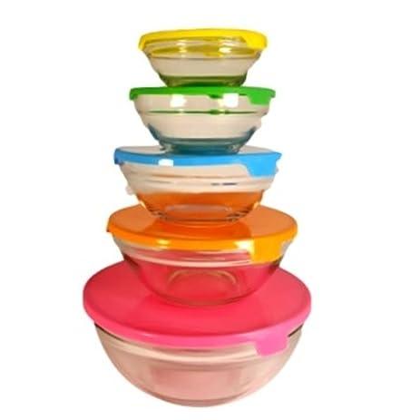 Glass Storage Nesting Bowl Set With Lids By Kitchen Works