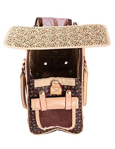 BETOP Pet Carrier Tote Around Town Pet Carrier Portable Dog Handbag Dog Purse for Outdoor Travel Walking Hiking (L(40cm*30cm*20cm), Brown) by BETOP (Image #3)