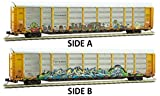 Micro-Trains MTL N-Scale Tri-Level Auto Rack/Car Carrier Ferromex/TTX Graffiti