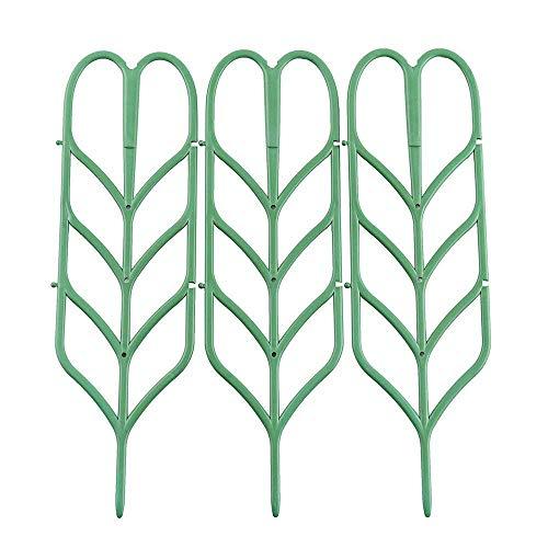 - ASSR Garden Trellis, DIY Garden Plant Pot Leaf Shape Mini Climbing Trellis Plant Support(3 Pack)