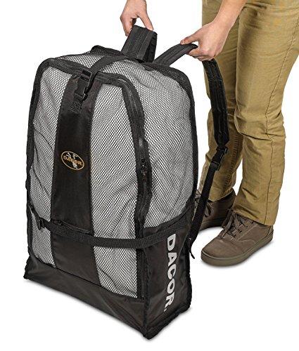 Dacor Scuba Snorkeling Gear Mesh Bag Padded Backpack