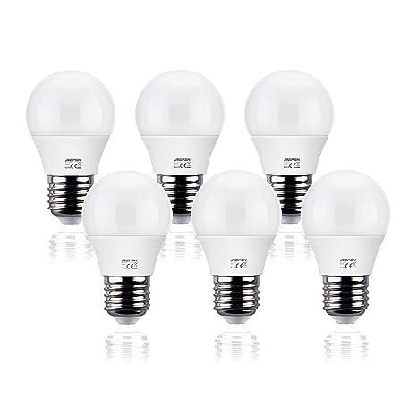 REPSN Bombillas LED G45 E27 (Casquillo Gordo) - 6W equivalente a 50W,470