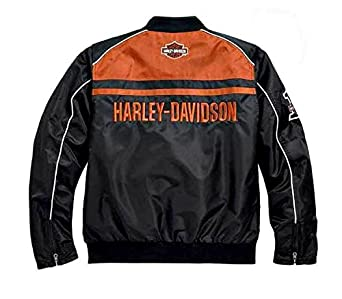 HARLEY-DAVIDSON® Mens Moto Ride Nylon Jacket - 98553-15VM: Amazon.es: Ropa y accesorios