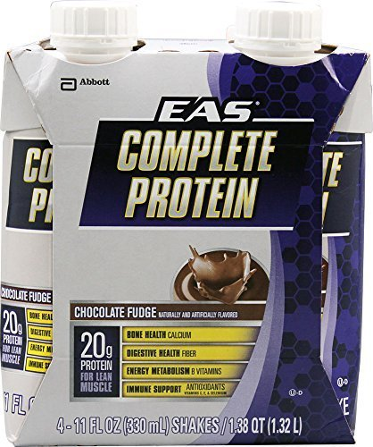 EAS Complete Protein Shake, Chocolate Fudge, 11 fl. oz. (Pack of 12) by EAS Sports Nutrition (Eas Complete Protein)