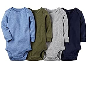 Carter's Baby Boys' 4 Pack Heather Bodysuits (Baby)