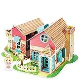 CubicFun Dollhouse Kits with Furniture Led Lights,Kids House 3D Puzzle Toys,Sweet Villa P615h