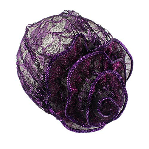 New Fishnet Mesh Wig Cap Stretchable Lace Chemo Caps Chiffon Flower Muslim Adjustable Strap Hats -