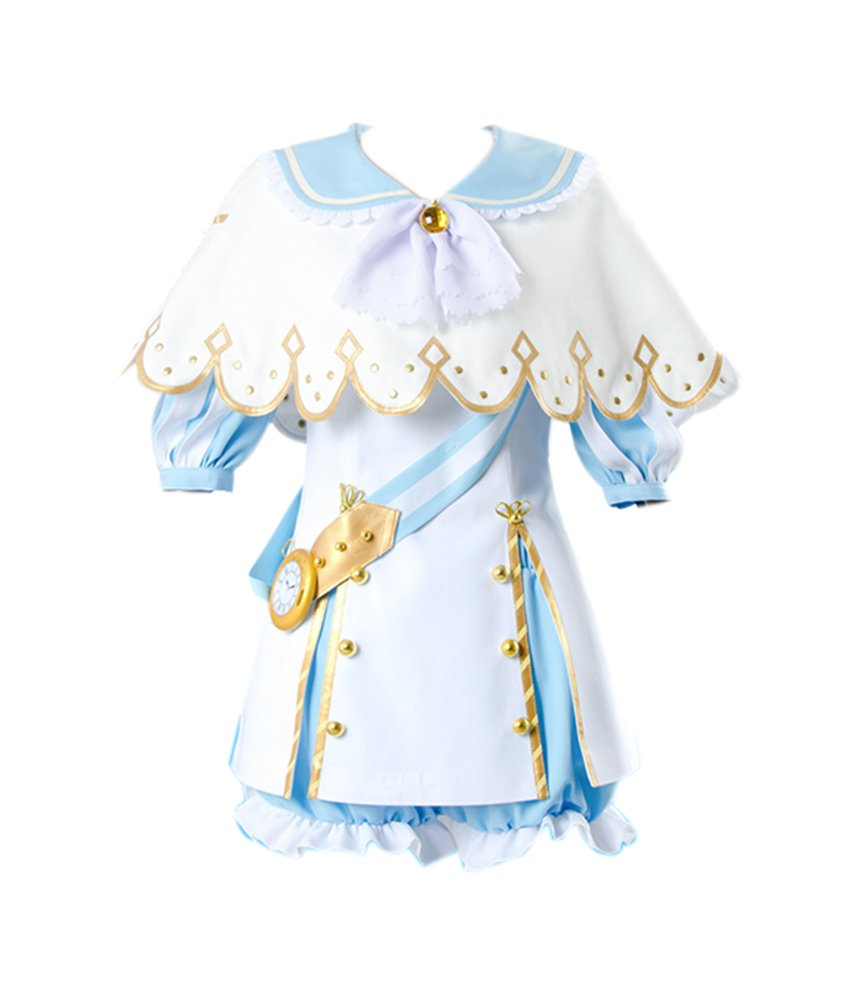 ROLECOS Kunikida Hanamaru maidservant Dress Outfit Japanese Anime Cosplay Costume L