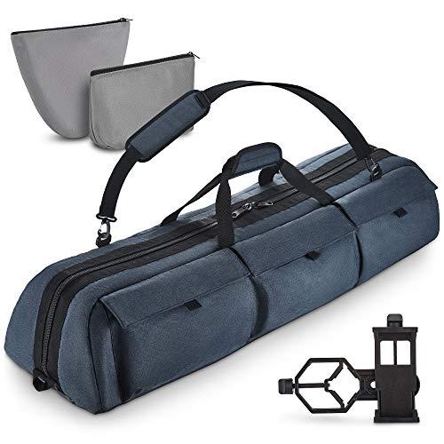 BagMate Multipurpose Telescope Case - Fits Most Telescopes - 40x10.6x7 inch - Bonus Smart Phone Adapter Included