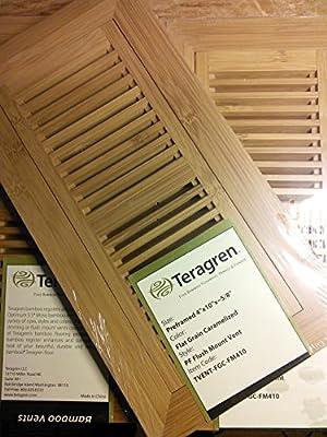 """Teragren Flush Mount Caramelized Floor Vent Register 4"""" x 10"""" x 5/8"""""""