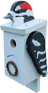product image for DutchCrafters Wood Bird Shaped Birdhouse (Woodpecker)