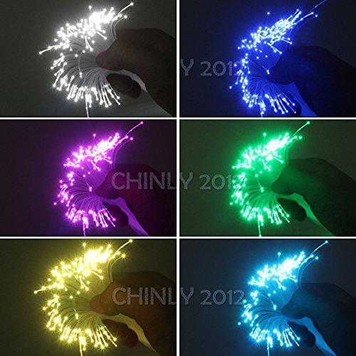 Car use DC12V 6W RGB LED Plastic Fiber Optic Star Ceiling Kit Light 100pcs 0.03in 6.5ft +18key Remote Optical Fiber Lights Engine by CHINLY (Image #6)