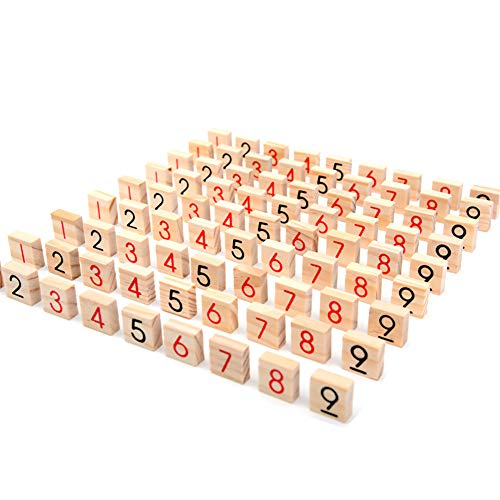 eroute66 Wooden Sudoku Chess Digits 1 to 9 Desktop Games Adult Kids Puzzle Education Toys by eroute66 (Image #5)