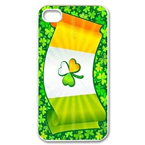 High Quality Phone Back Case Pattern Design 11Irish Flag with Celtic Clover-Lucky Clover- For Iphone 4 4S case cover