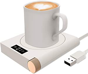 Coffee Mug Warmer for Desk,Mug Warmer with Alarm Reminders Coffee Warmer - Five Speed Adjustment Temperature(Without Mug)