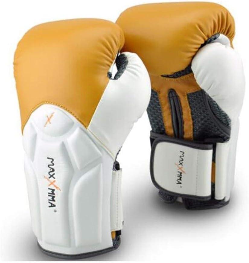 TMYQM ボクシングリストグローブフィットネストレーニングムエタイサンダ格闘技ファイティンググローブファッション 柔らかく快適 Camel color 10oz