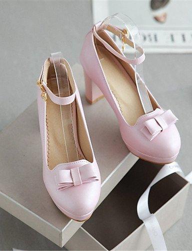 Fiesta Noche Pink Zapatos negro 5 us10 semicuero tac¨®n De 5 Mujer Black tacones boda Zq Y Eu42 Cn43 Blanco Vestido Casual tacones us10 Robusto Uk8 5 Rosa vw7TC7dWqx