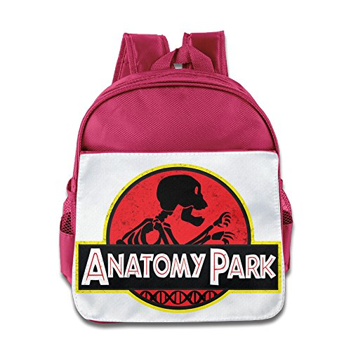 HYRONE Anatomy Park Rick Morty Teenager School Bag Backpack For 1-6 Years Old Pink