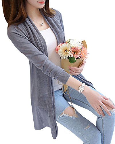 Pull Cardigans Mengmiao Shirts Sweats Sweat Gris Manches Casual Longues Chaude Femme SnxBPYa