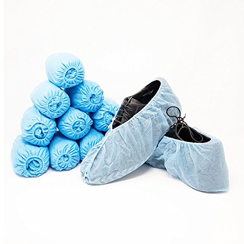 Innovative Haus Premium Thick Extra Large Disposable Boot & Shoe Covers | Durable, Non-Slip,Treads, Water Resistant, Non-Toxic,100% Latex Free | Stronger than Competitor-40 grams | 100-Pack Blue | by Innovative Haus (Image #8)
