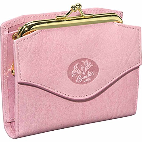Wallet Buxton Heiress French Purse - Pink Ladies Small Wallet NEW
