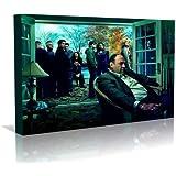 The Soprano's Tony Alone One Blank Wall Art Canvas Art Print - Modern Art - Framed Ready to Hang (20 inch x 30 inch)