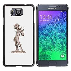 FlareStar Colour Printing Cool Kid Tin Man Grey Character Cgi Japan cáscara Funda Case Caso de plástico para Samsung GALAXY ALPHA G850